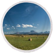 From The Prairie To The Rockies Round Beach Towel