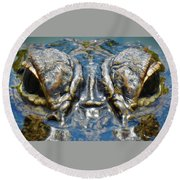 From The Series I Am Gator Number 7 Round Beach Towel