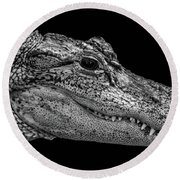 From The Series I Am Gator Number 9 Round Beach Towel