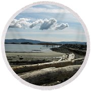 from the shore at Powell River Round Beach Towel