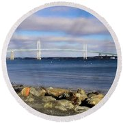 From The Shores Of Jamestown Round Beach Towel