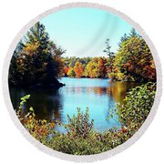 From Vermont With Love Round Beach Towel