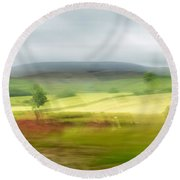 heading north of Yorkshire to Lake District - UK 1 Round Beach Towel