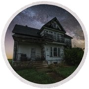 Round Beach Towel featuring the photograph Front Porch  by Aaron J Groen