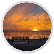 Round Beach Towel featuring the photograph Front Row Seat by Robin-Lee Vieira