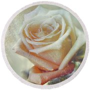 Frosty Rose Round Beach Towel