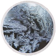 Frost Branches Round Beach Towel
