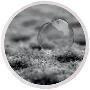 Frost Bubble Round Beach Towel