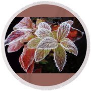 Frost Cluster Round Beach Towel