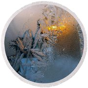 Frost Warning Round Beach Towel