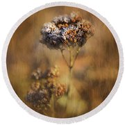 Frosted Bloom Round Beach Towel