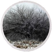 Frosted Elm Round Beach Towel