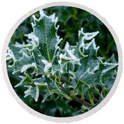 Frosted Holly Round Beach Towel