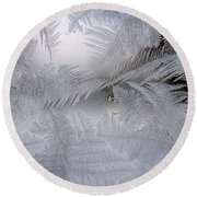 Frosted Pane Round Beach Towel