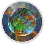 Frosted Still Round Beach Towel