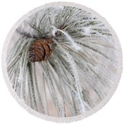 Frosty Round Beach Towel