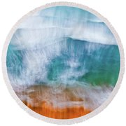 Frothing Over Round Beach Towel