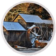 Frozen Mill Round Beach Towel
