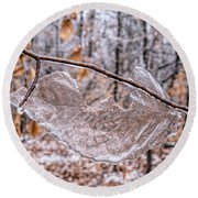 Frozen Remains Round Beach Towel by Todd Breitling