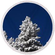 Frozen Tranquility Ute Pass Cos Co Round Beach Towel