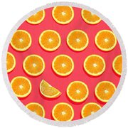 Fruit 2 Round Beach Towel