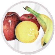 Fruit Medley Round Beach Towel