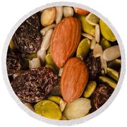 Fruit Nut And Seed Snack Mix Round Beach Towel