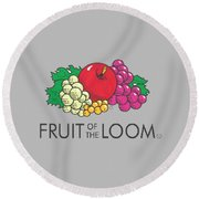 Fruit Of The Loom T-shirt Round Beach Towel