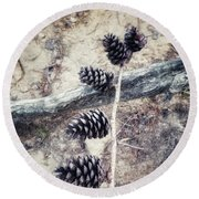 Fruit Of The Pine Round Beach Towel