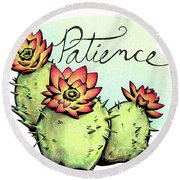 Fruit Of The Spirit Series 2 Patience Round Beach Towel