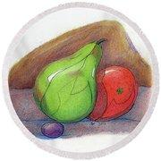 Fruit Still 34 Round Beach Towel