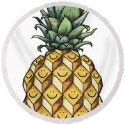 Fruitful Round Beach Towel by Kelly Jade King