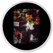 Round Beach Towel featuring the photograph Fruits Of Autumn - New York by Miriam Danar