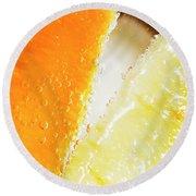 Fruity Drinks Macro Round Beach Towel