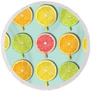Fruity Round Beach Towel