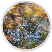 Aqueous Reflections 2 Round Beach Towel