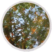 Aqueous Reflections 4 Round Beach Towel