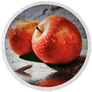 Fuji Red Flood Round Beach Towel by Jack Torcello