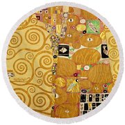 Fulfilment Stoclet Frieze Round Beach Towel