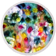 Full Bloom  Round Beach Towel by Don Wright