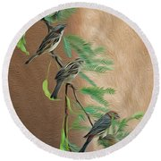 Round Beach Towel featuring the photograph Full House Op17 by Mark Myhaver