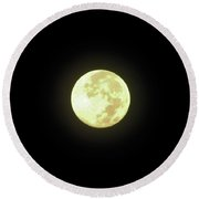 Full Moon August 2014 Round Beach Towel
