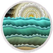 Full Moon Round Beach Towel