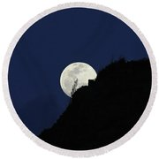 Full Moon Behind Makapu'u Round Beach Towel