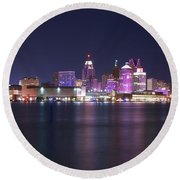 Full Moon Panorama Round Beach Towel by Frozen in Time Fine Art Photography