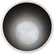 Full Moon Ring Round Beach Towel by Kathy Long