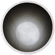 Full Moon Ring Round Beach Towel