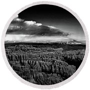 Full Moon Rise Over Bryce Round Beach Towel