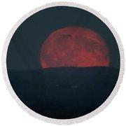 Full Moon Rising Round Beach Towel