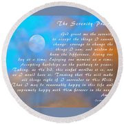 Round Beach Towel featuring the photograph Full Moon Serenity Prayer Digital by Floyd Snyder